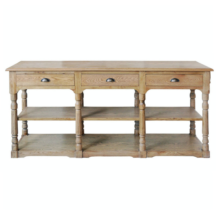 Normandy Console Table - Natural Oak
