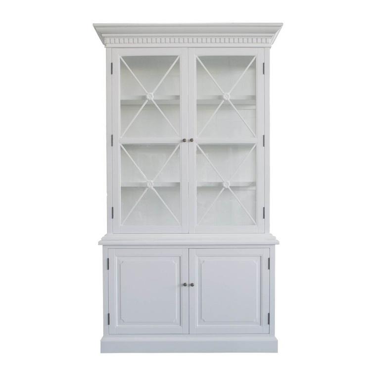 West Hamptons 2 Door Display Cabinet- White