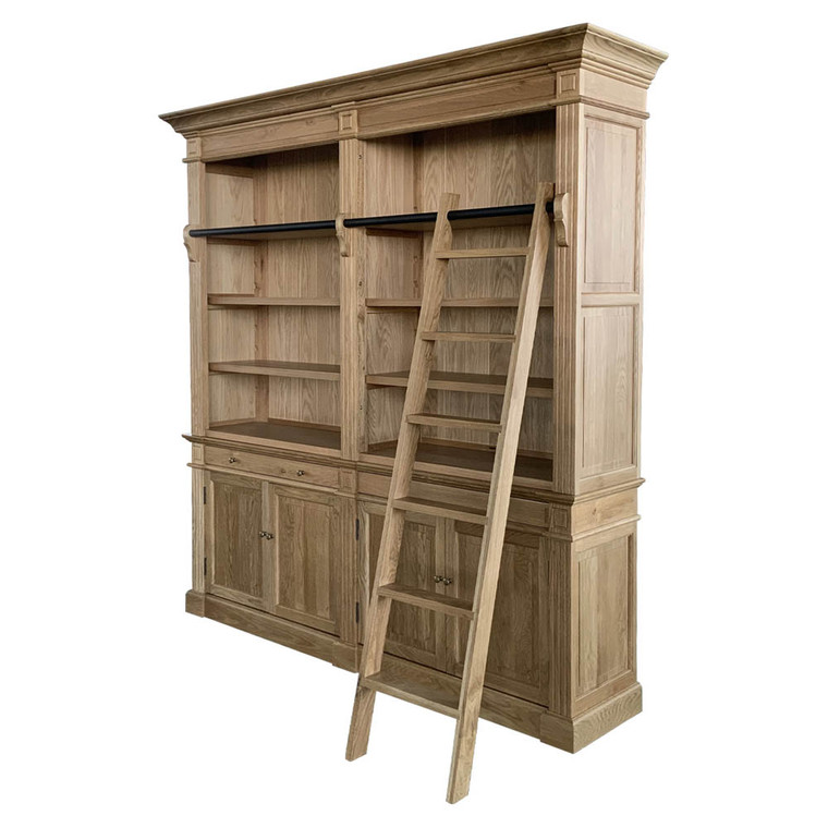 Montpellier 2 Bay Library Bookcase - Natural Oak