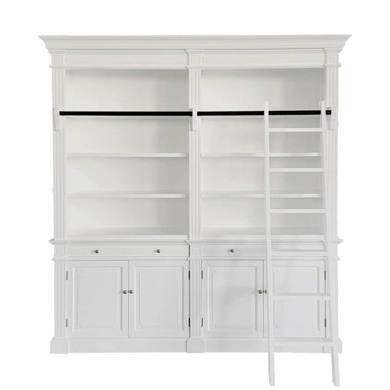 Montpellier 2 Bay Library Bookcase - White