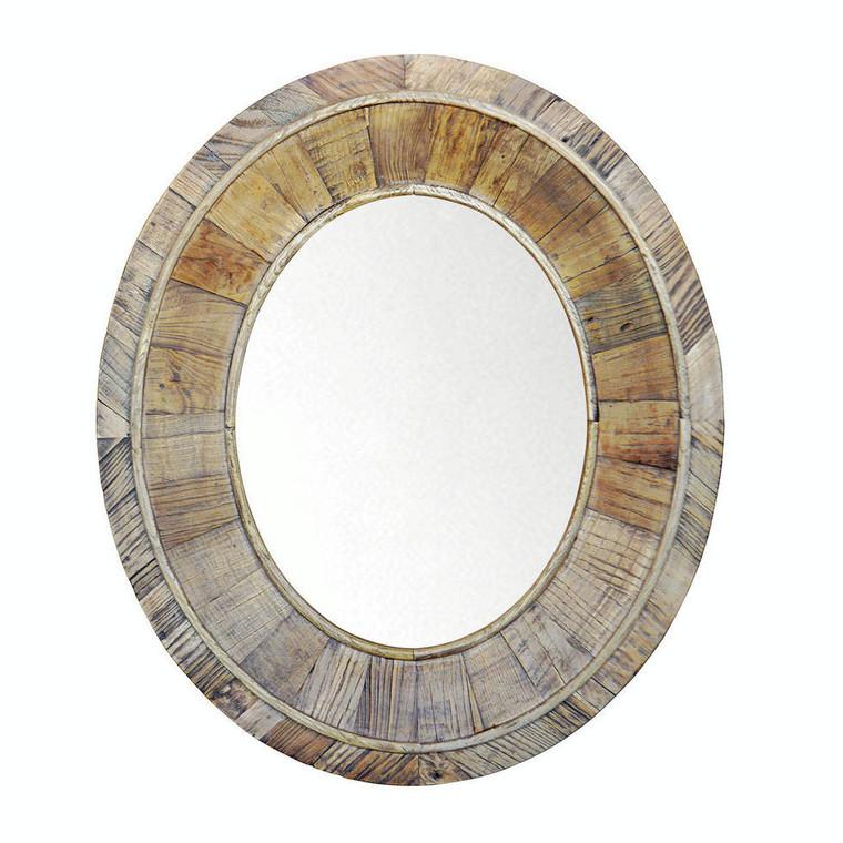 Brooklyn Oval Mirror - Reclaimed Elm