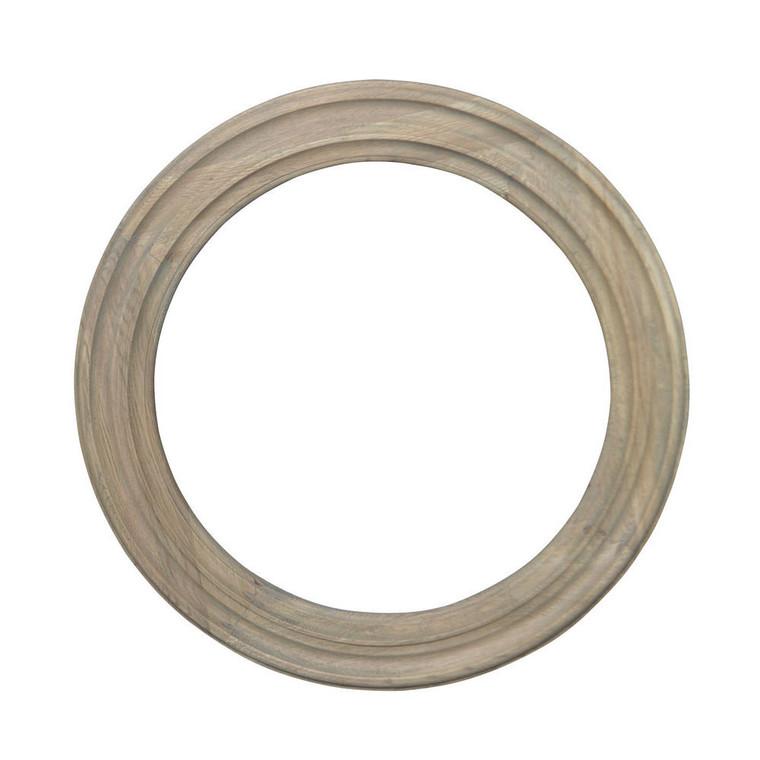 Ondine Circular Mirror - Weathered Oak