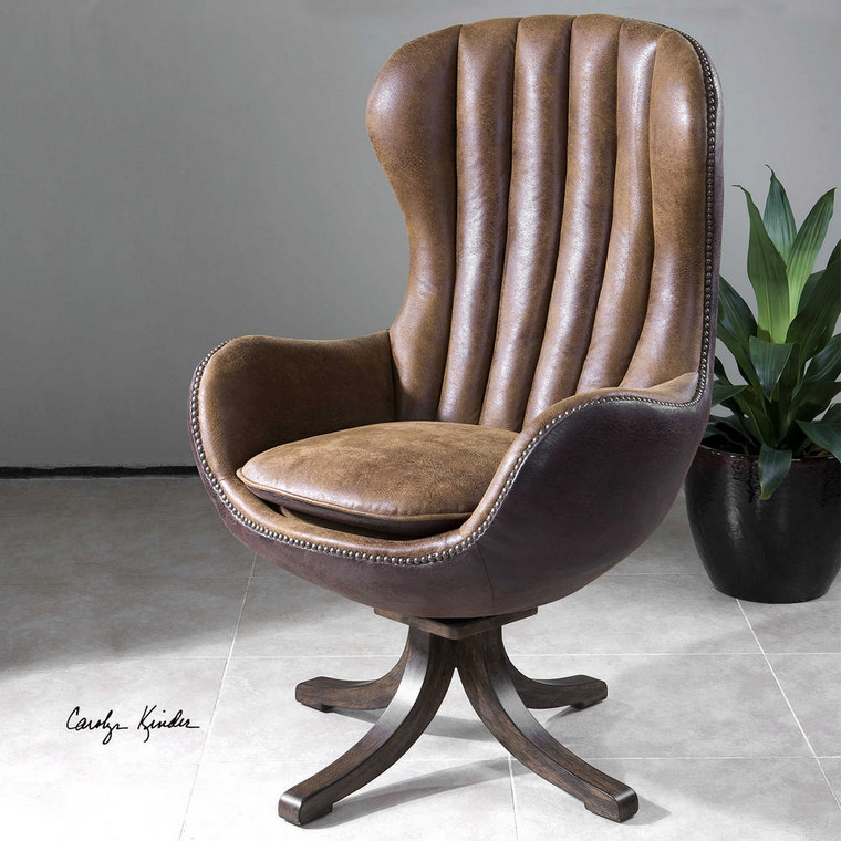 Garrett Swivel Chair by Uttermost