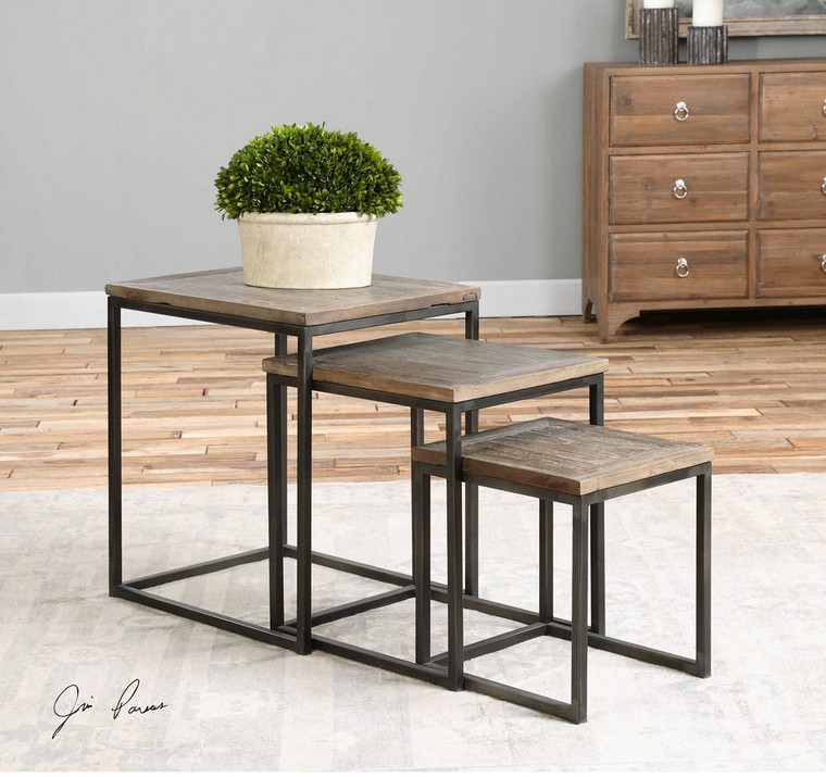Bomani Nesting Tables S/3 by Uttermost