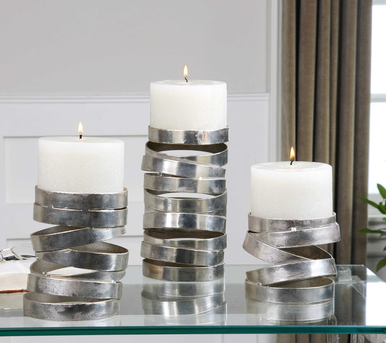 Tamaki Candleholders S/3 by Uttermost