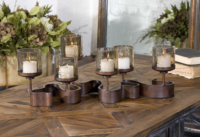 Ribbon Candleholder by Uttermost