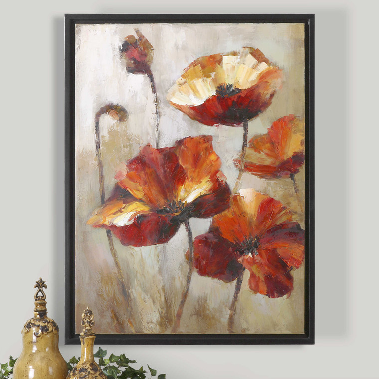 Window View Hand Painted Canvas by Uttermost