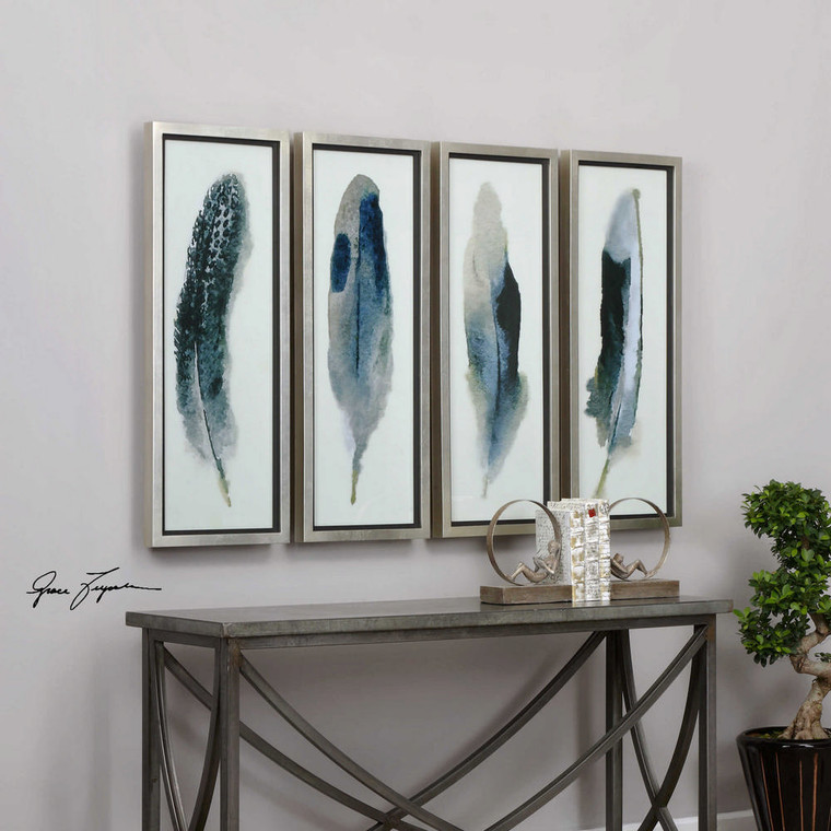 Feathered Beauty Framed Prints S/4 by Uttermost