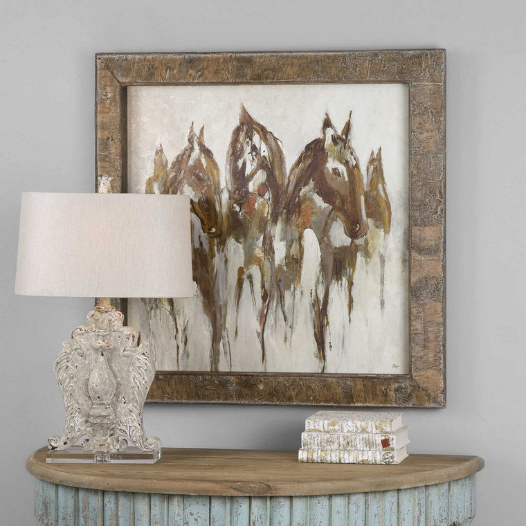 Equestrian In Browns and Golds Oil Reproduction OR by Uttermost