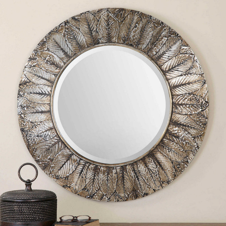 Foliage Round Mirror by Uttermost
