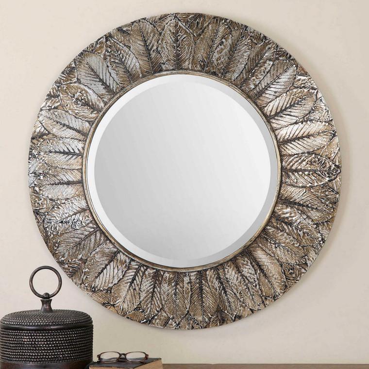 Foliage Round Mirror by Uttermost