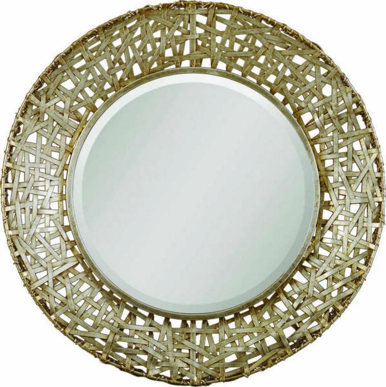 Alita Champagne Round Mirror by Uttermost