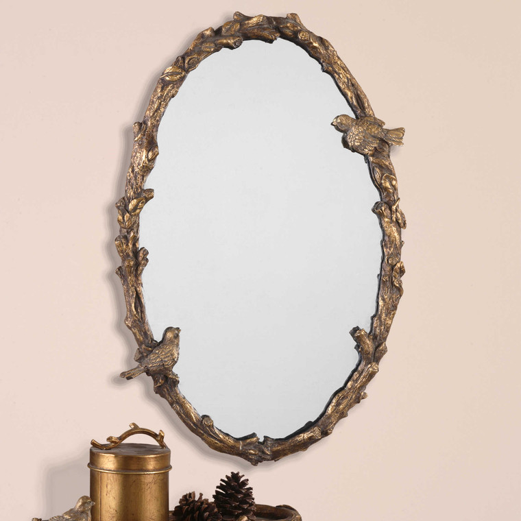 Paza Oval Mirror by Uttermost
