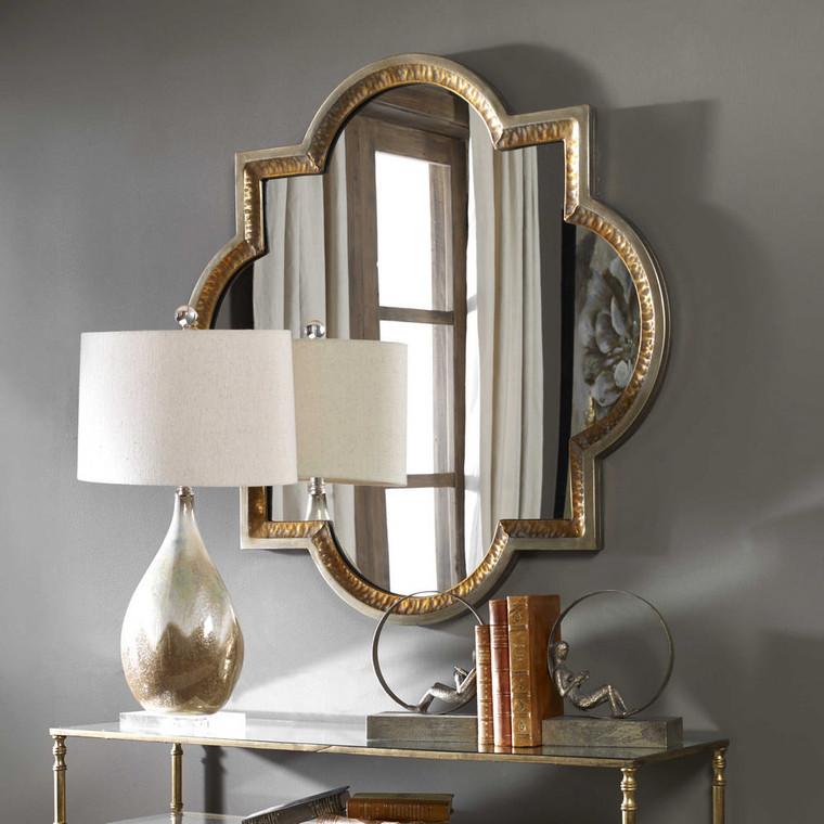 Lourosa Quatrefoil Mirror by Uttermost