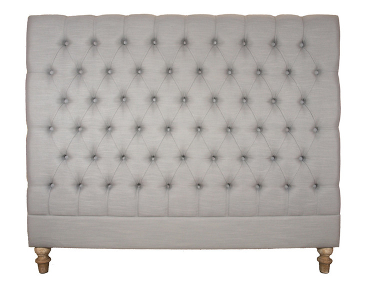 Marquis Upholstered Queen Headboard (Dove Grey)