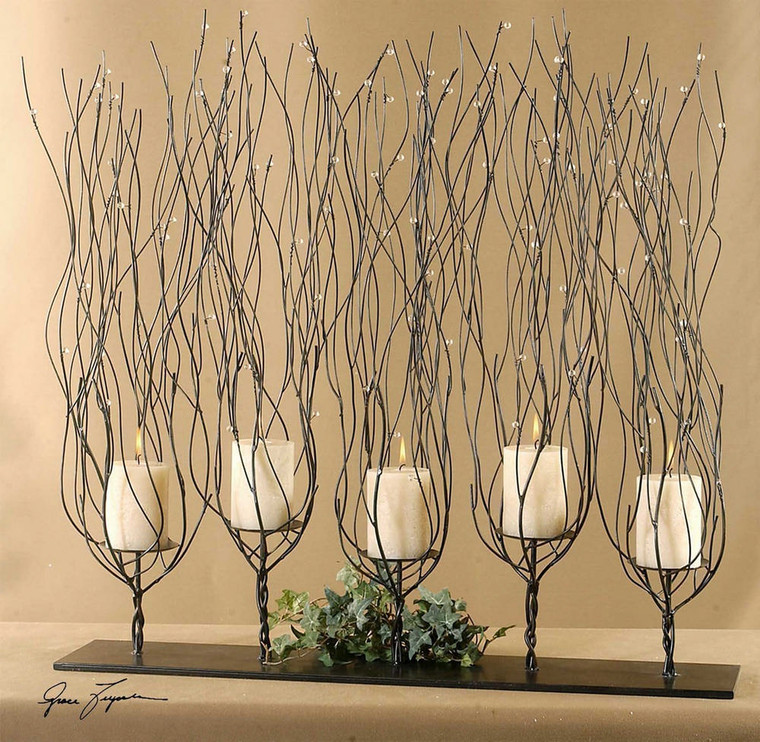 Fedora Candleholder by Uttermost