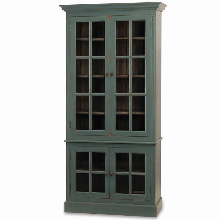 Walton 4 Door Glass Cabinet - Size: 226H x 109W x 46D (cm)