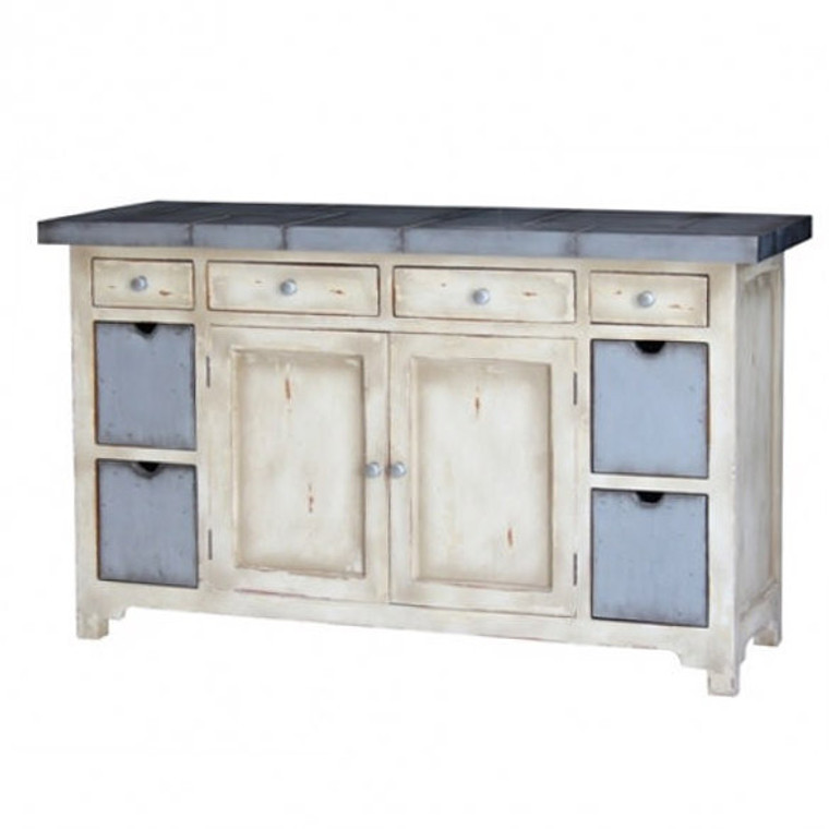 Tin Smith Kitchen Organizer - Size: 90H x 150W x 55D (cm)