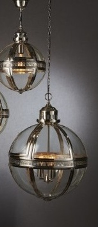 Saxon Pendant Light Nickel Large 55cm