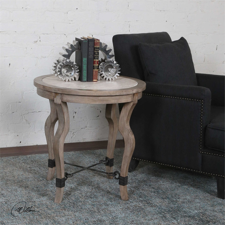 Blanche Lamp Table - by Uttermost