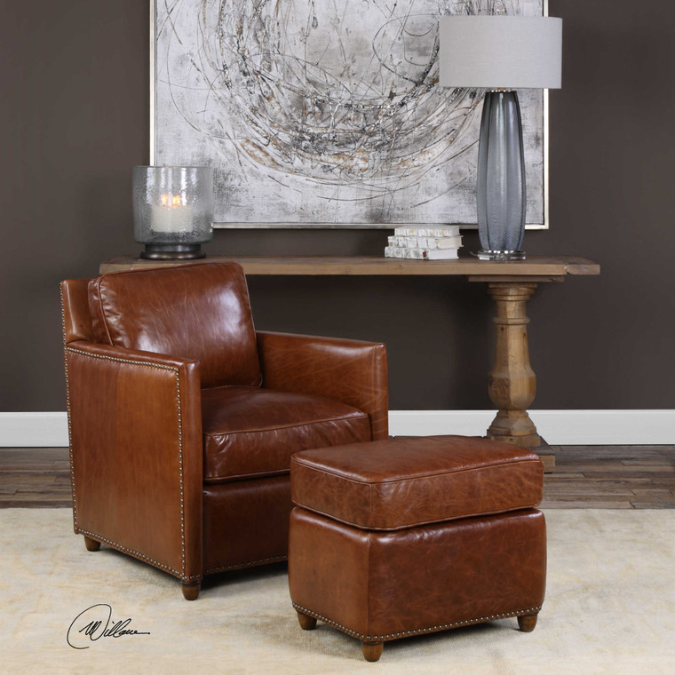 Roosevelt Rectangle Ottoman by Uttermost