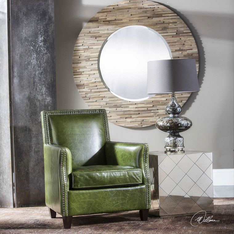 Figo Leather Accent Chair by Uttermost