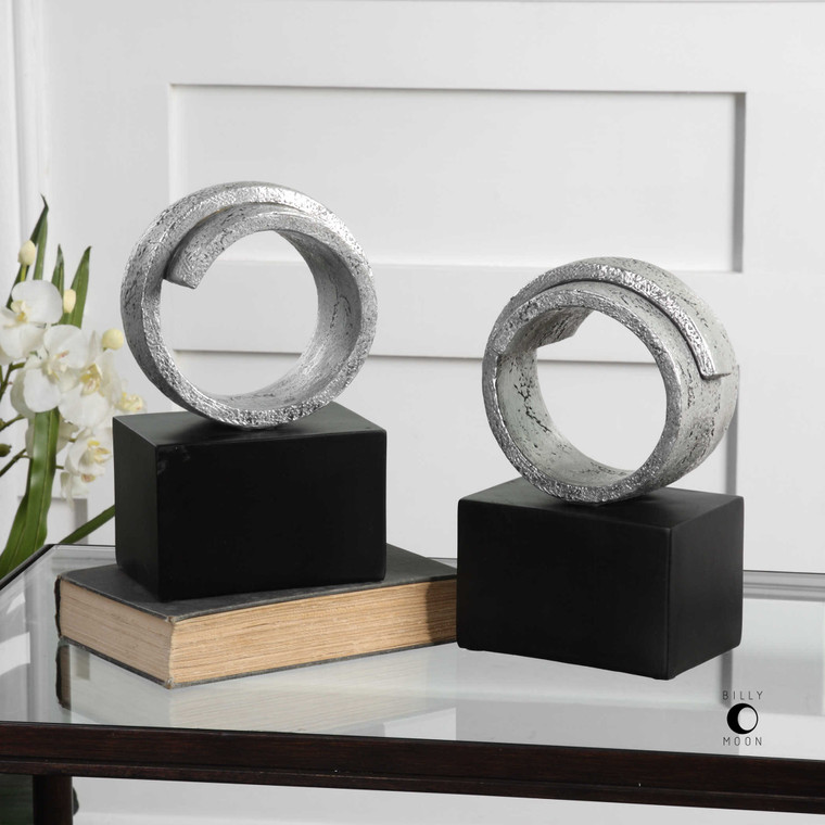 Twist Bookends S/2 by Uttermost