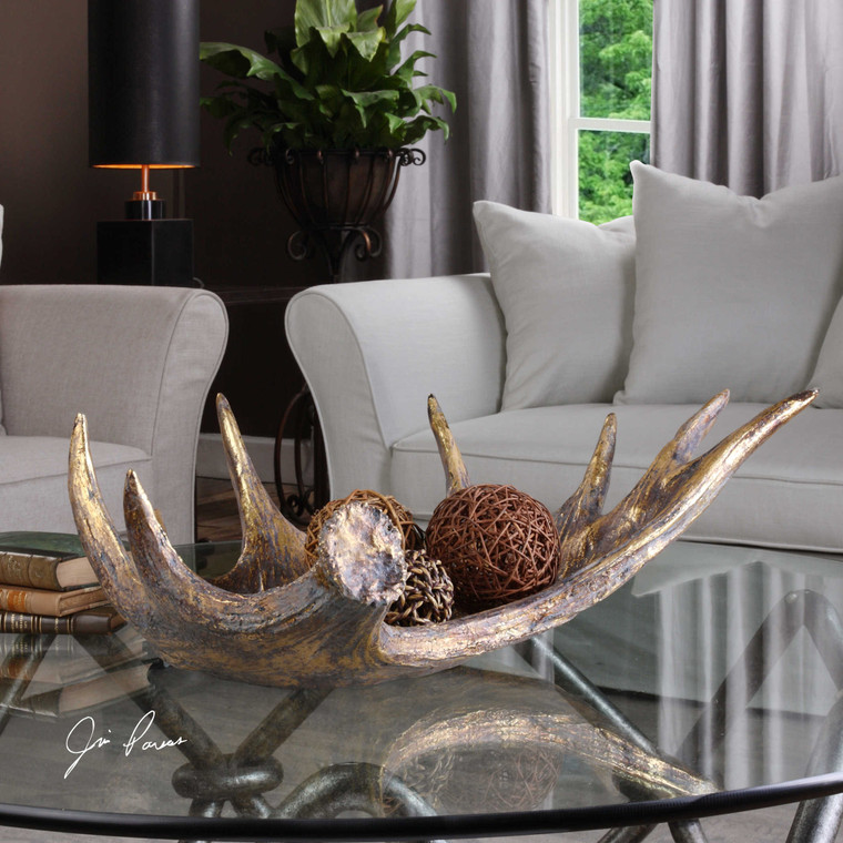Moose Antler Bowl by Uttermost