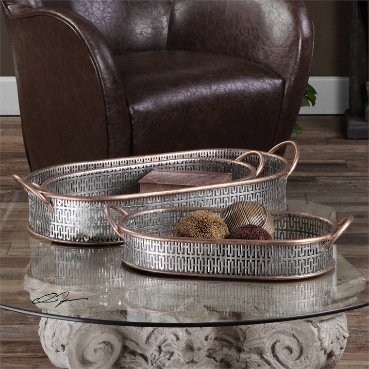 Fabiana Trays S/3 - by Uttermost
