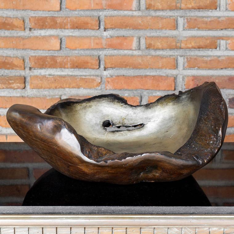 Arkady Teak Bowl by Uttermost