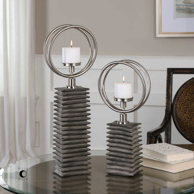 Eugenio Candleholders S/2 by Uttermost