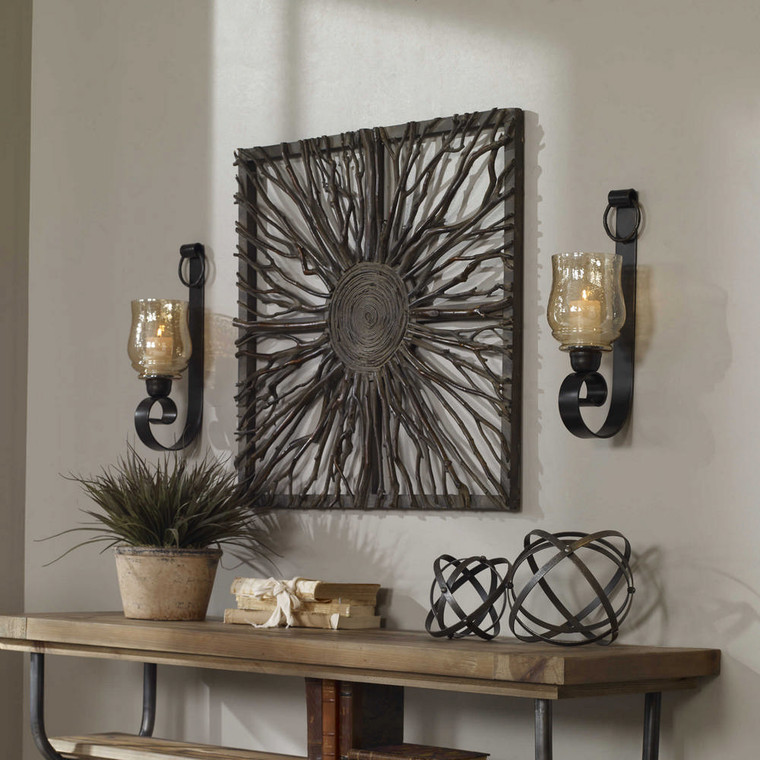 Joselyn Candle Sconces S/2 by Uttermost