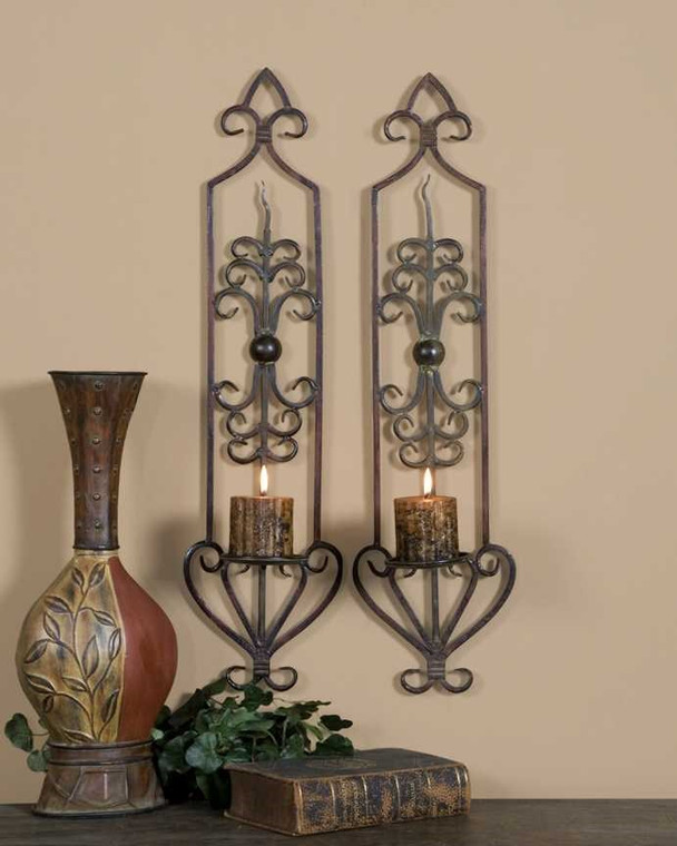 Privas Candle Sconces S/2 by Uttermost