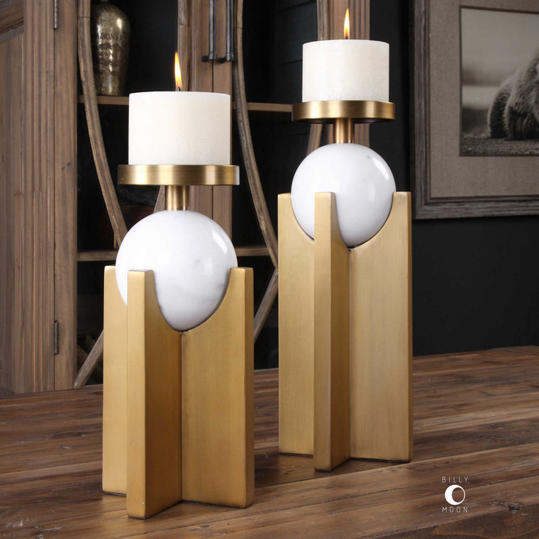 Aggie Candleholders S/2 by Uttermost