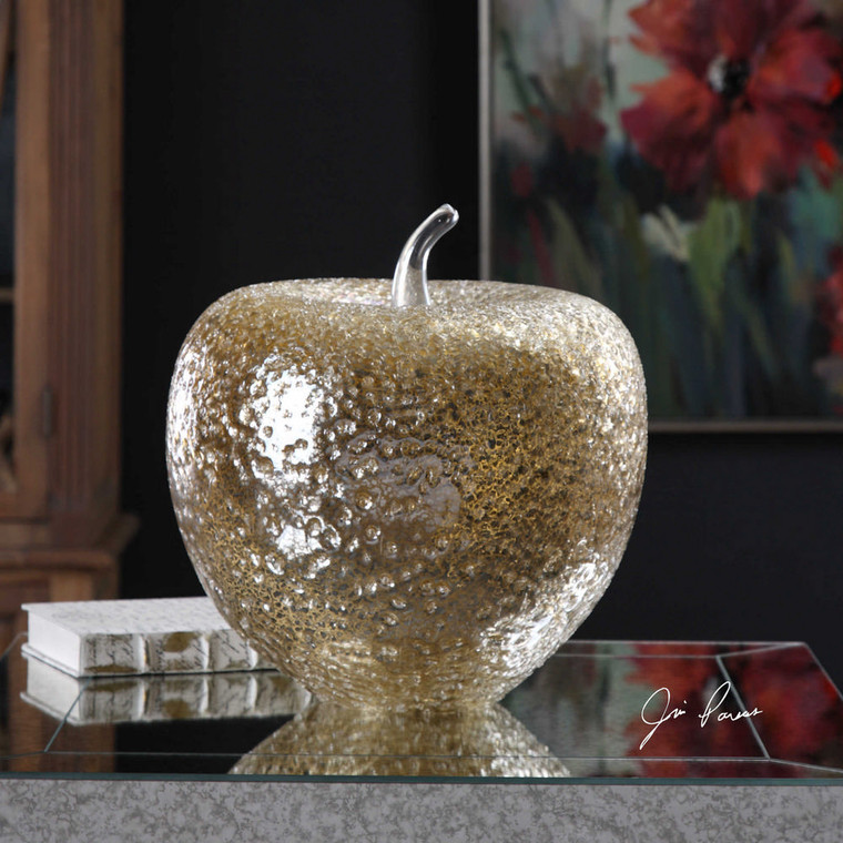 Golden Apple Sculpture by Uttermost