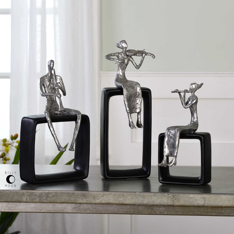 Musical Ensemble Figurines S/3 by Uttermost