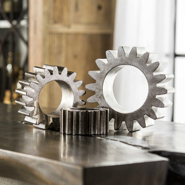 Gears Sculpture S/3 by Uttermost