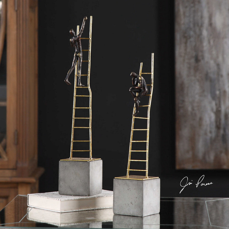 Ladder Climb Figurines S/2 by Uttermost