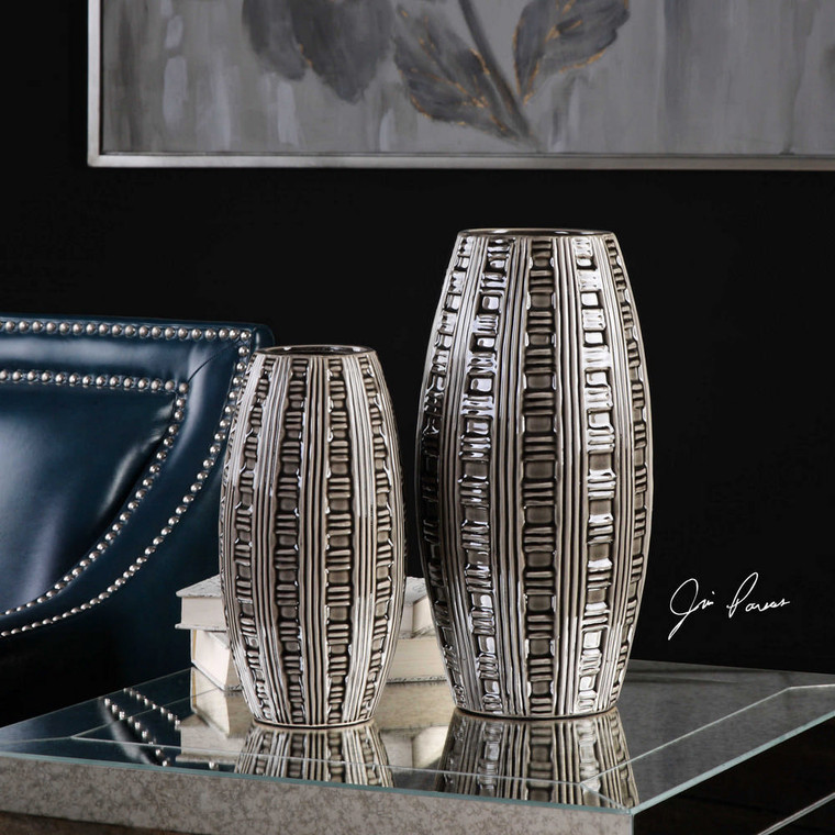 Aura Vases S/2 by Uttermost