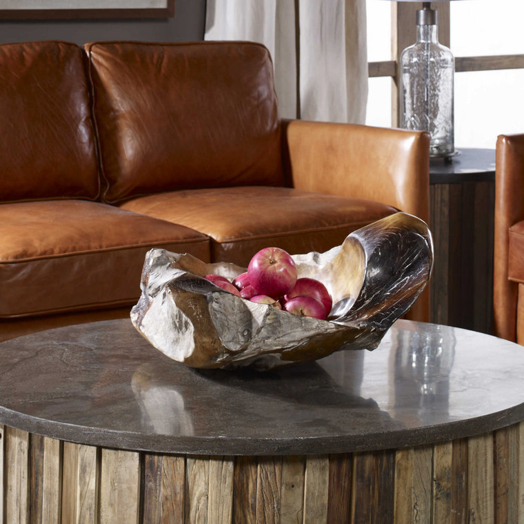 Giulio Teak Bowl by Uttermost