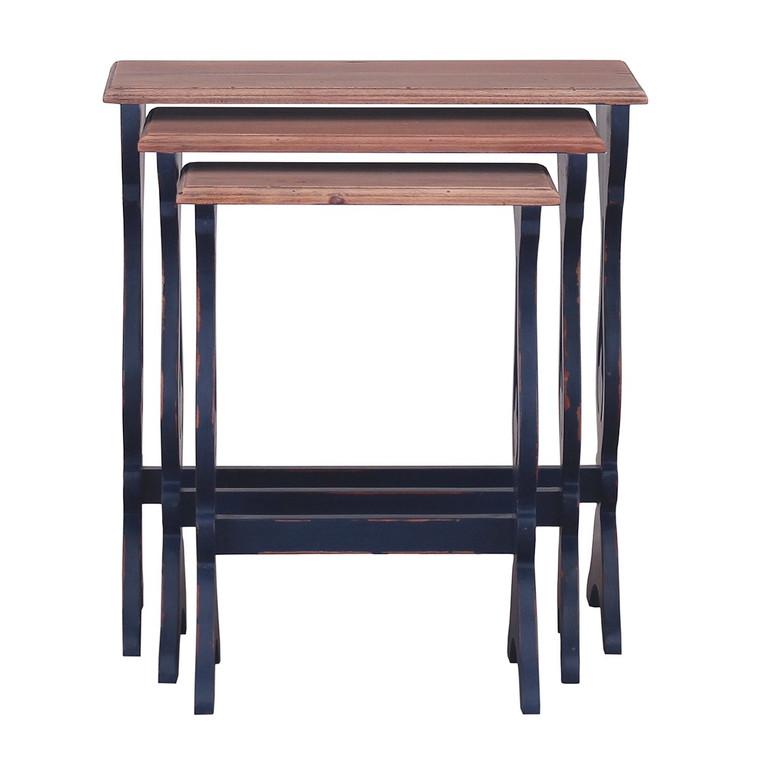Italian Nesting Table - Size: 65H x 61W x 28D (cm) - NBL-M DRW-T