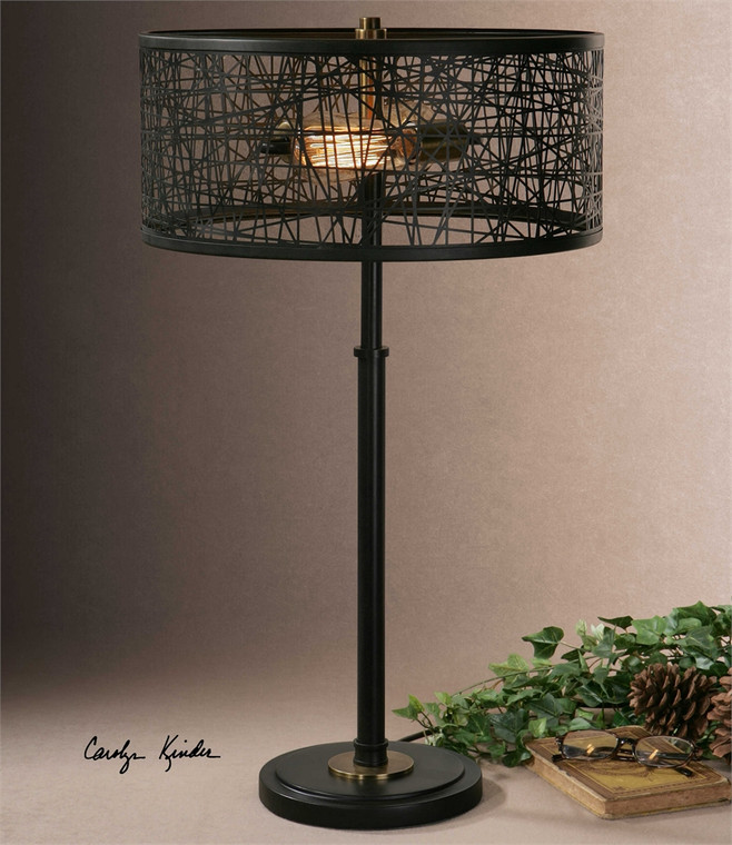 Alita Black Table Lamp - by Uttermost