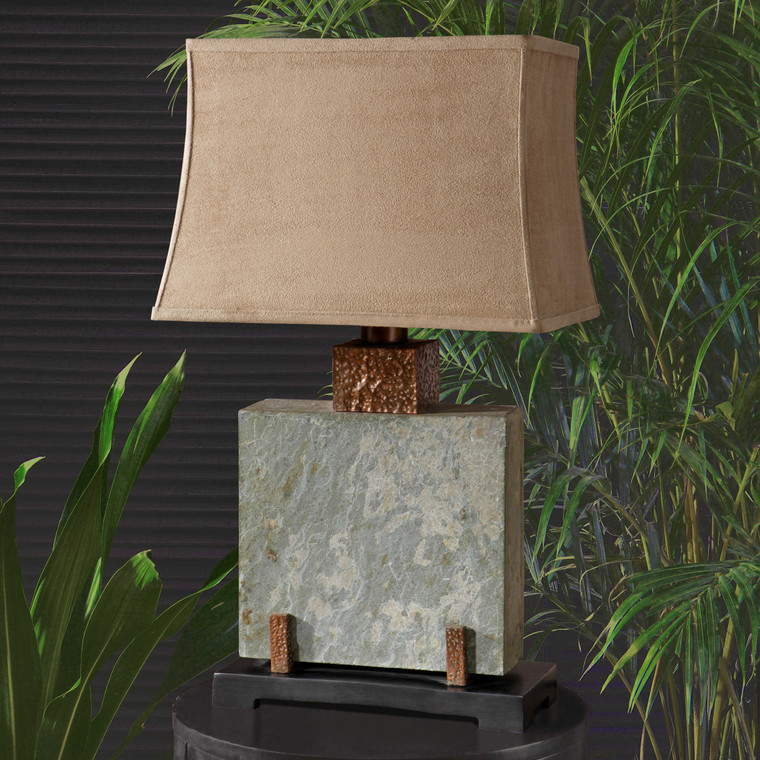 Slate Square Table Lamp by Uttermost