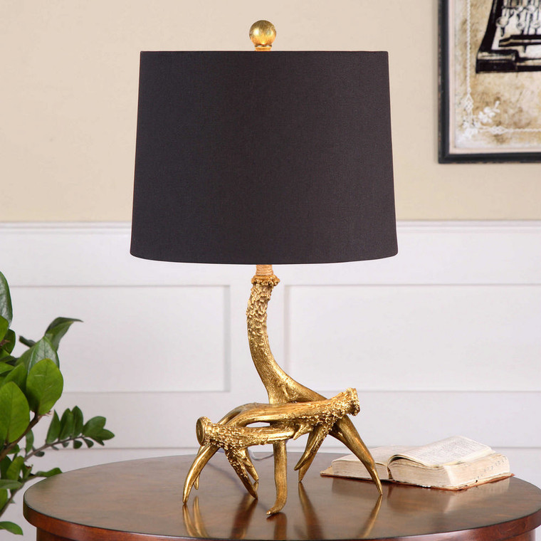 Golden Antlers Table Lamp by Uttermost