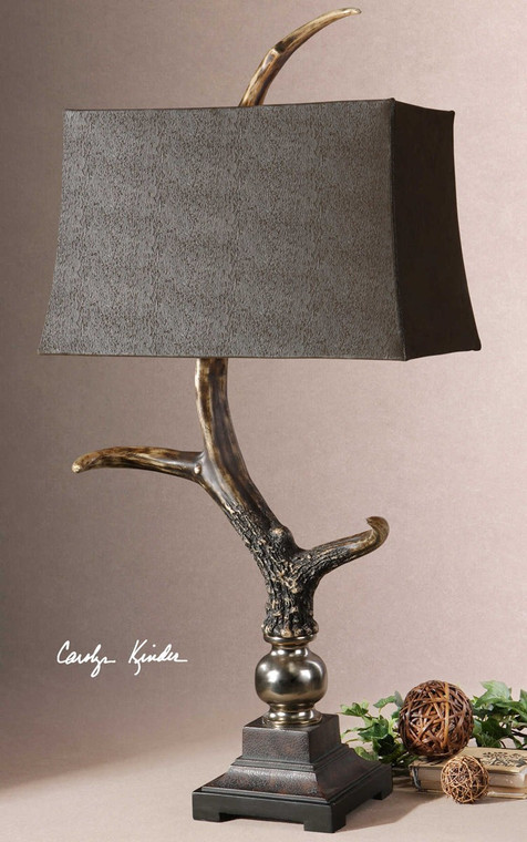 Stag Horn Dark Table Lamp by Uttermost