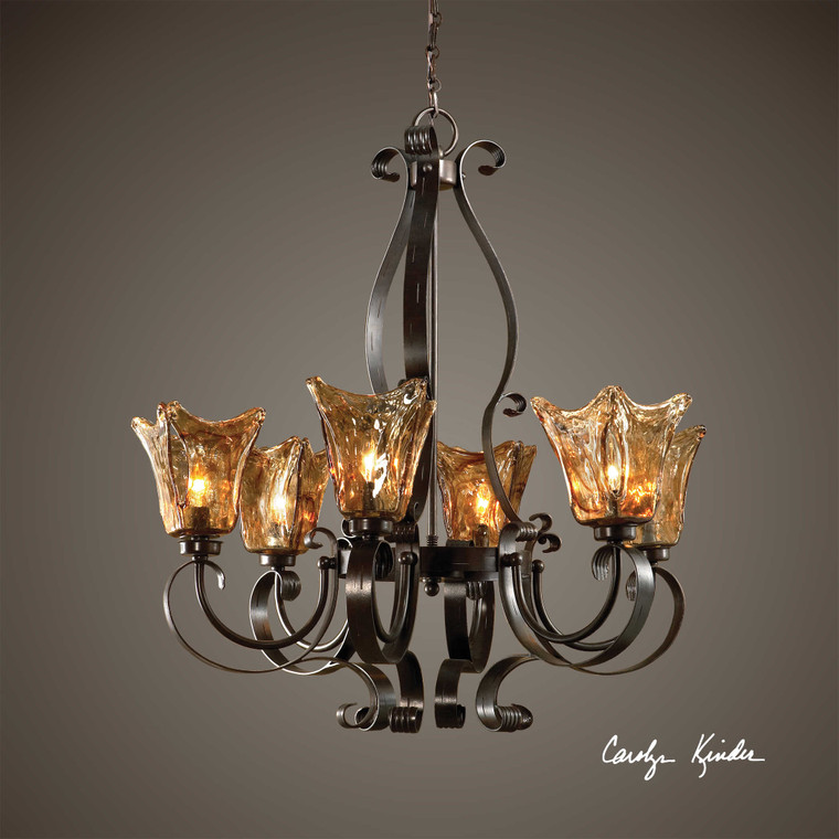 Vetraio 6 Lt. Chandelier by Uttermost