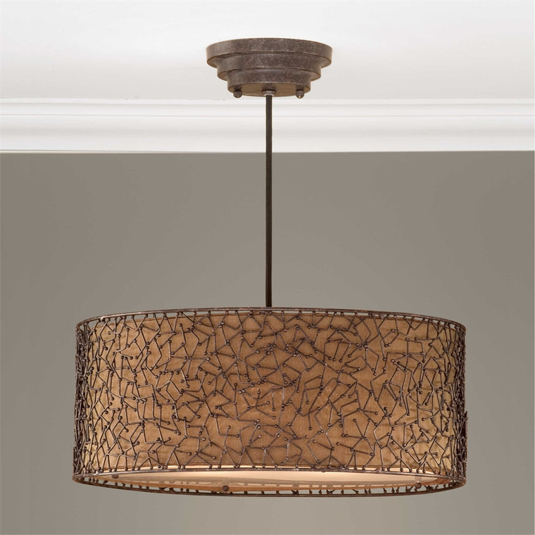 Brandon 3 Lt Pendant - by Uttermost