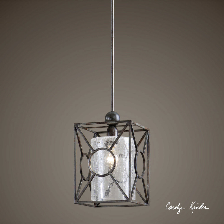 Arbela 1 Lt Mini Pendant by Uttermost