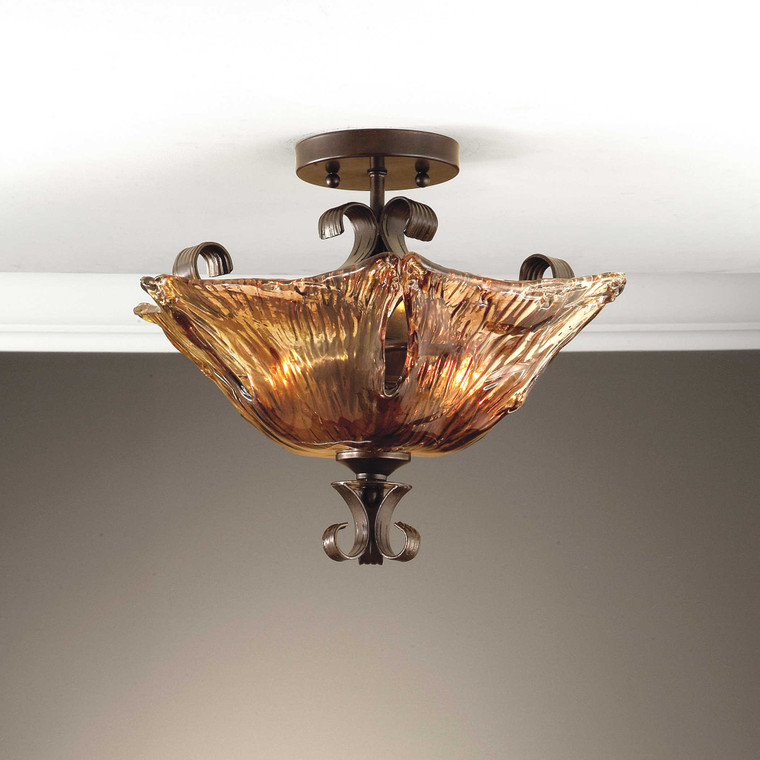 Vetraio 2 Lt Semi Flush Mount by Uttermost