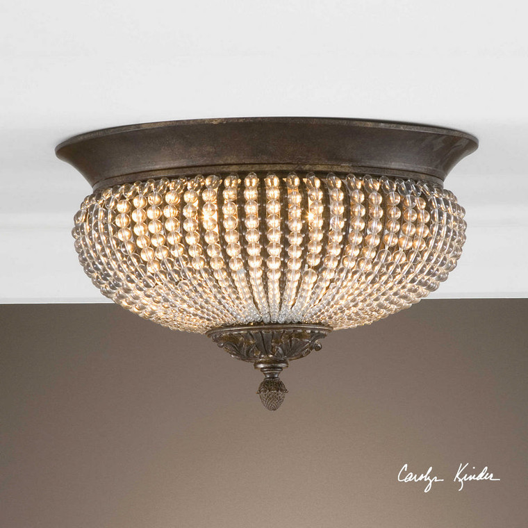 Cristal de Lisbon Flush Mount by Uttermost
